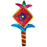 Cinco de Mayo Decorations Flower with Long Stem Tin Ornament Image
