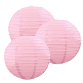 Baby Shower Decorations Pink Paper Lanterns Image