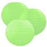 Luau Decorations Lime Green Paper Lanterns Image