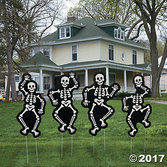 Halloween Decorations Glow in the Dark Skeleton Yard Stakes Image