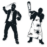 Halloween Decorations Psycho Silhouettes Image
