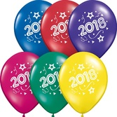 New Years Balloons 2018 Multicolor Balloons Image